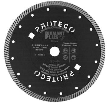 Diamantový kotouč celistvý DIAMANT PLUS 230 mm PROTECO 10.214-230