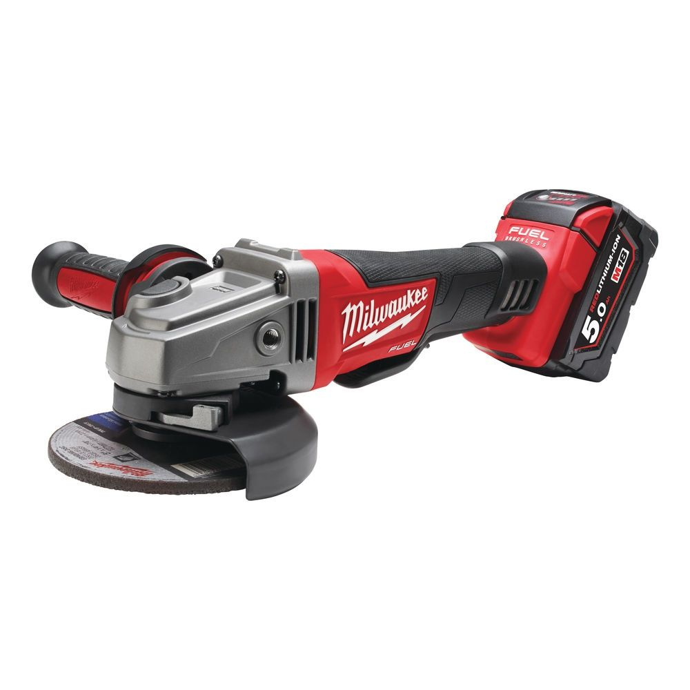 Aku úhlová bruska 125 mm Milwaukee M18 CAG125XPD-502X (5,0 Ah)